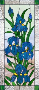 stained glass window - Iris's