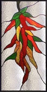 Southwest Chili Peppers stained glass