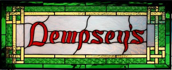 Stained glass home bar sign