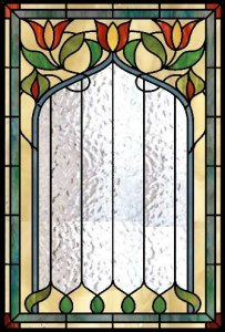victorian stained glass panel